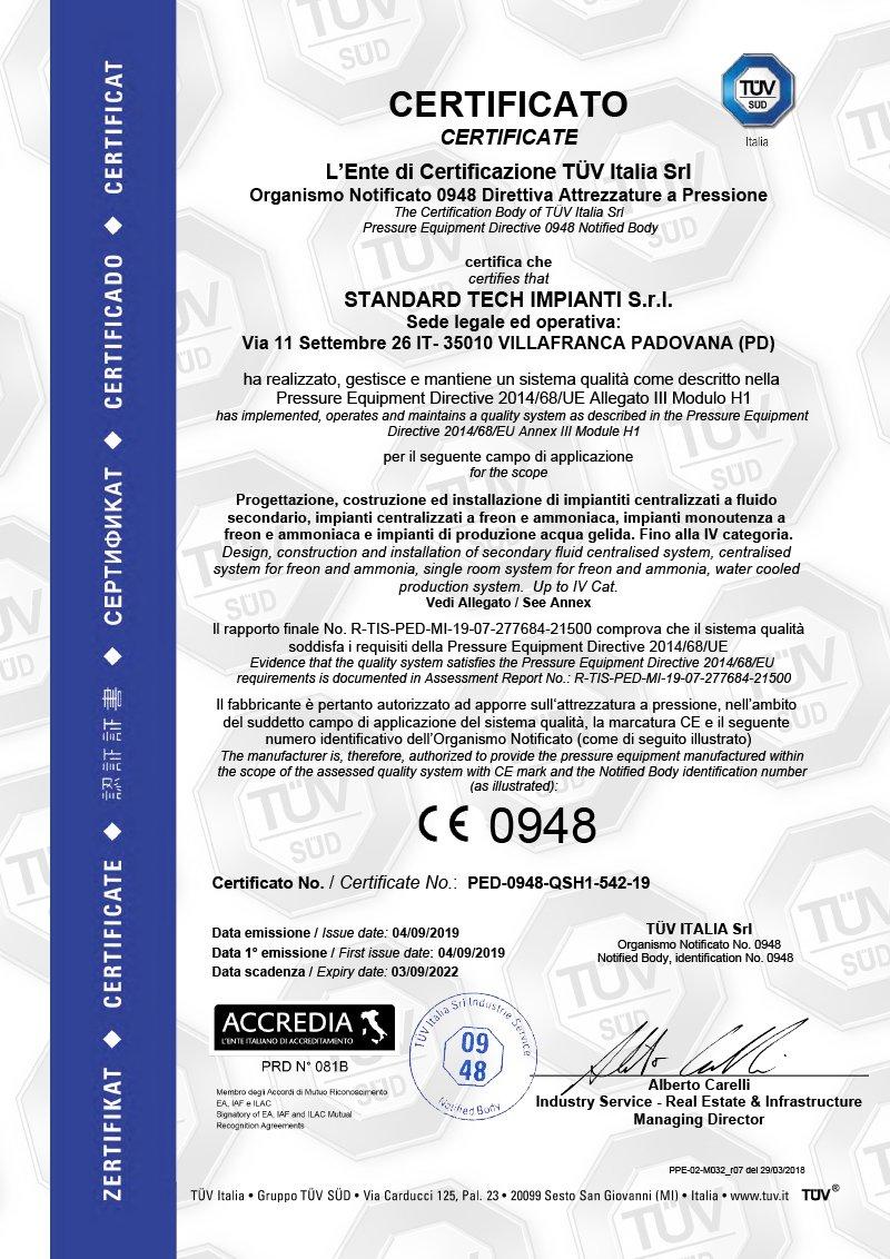 ped 2019 certificate